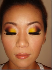 beauty tips for ministers  yellow eyeshadow/bold eyeshadow